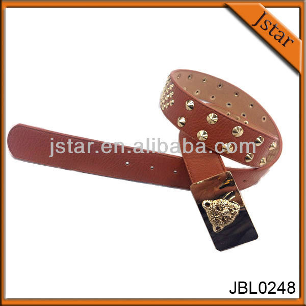 2016 New Fashion High Qulity Rivet Wide Leather Belt