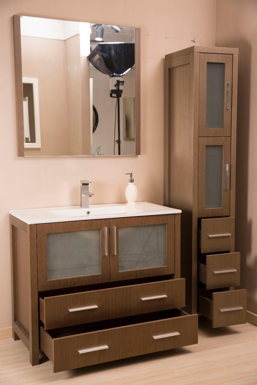 Hoge hardheid pu verf afwerking lade bad kast ontwerp badkamer ...