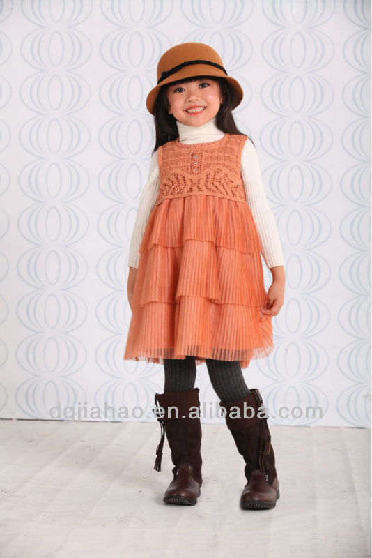 Frill skirt design kids beautiful pretty children's dresses