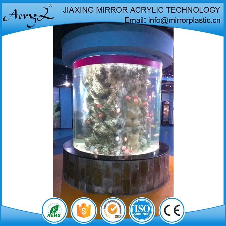 Clear plastic round acrylic fish tank aquarium acrylic for Plastic fish tank