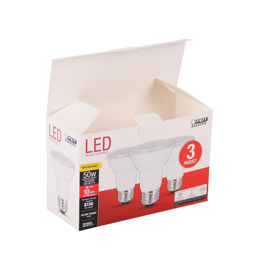 Custom printing 350gsm matte paper led light bulb packaging box