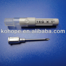 Disposable Plastic Luer lock Veterinary Needle
