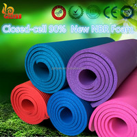 Custom print NBR rubber foam closed cell yoga mat 1/2 inch thickness sports mat/exercise mat