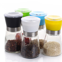 XZQX135BW Coarse To Fine Grain ABS Manual Dual Salt Pepper Spice Mill Grinder