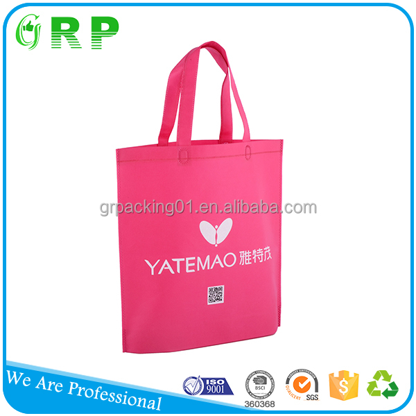 BSCI ISO standard size custom logo print shopping cheap non-woven tote bag