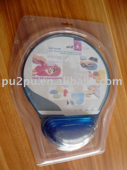 Promotional gift crystal movable mouse mat with wrist rest