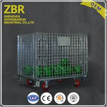 Welded Large Steel Pallet Warehouse Metal Foldable Cage Wire Mesh Container Crate