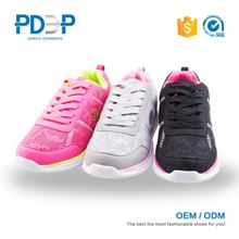 Good quality light weight breathable white sport shoes
