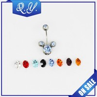 Nickel Free Belly Jewelry 316L Surgical Steel Non Piercing Navel Ring