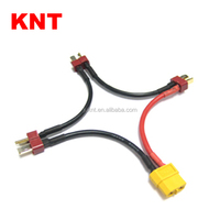 KNT Battery Harness For 3 Packs in Series Battery Connector XT60 Female to Deans Male Adapter