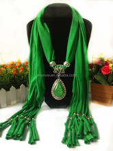 Women Fashion Neckwear Multicolor Knitted Pendant Scarves