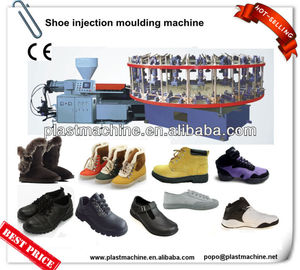 Semi-automatic plastic PVC/TPR sole rotary injection making machine