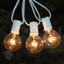 50Ft G40 Globe String Lights with Clear Bulbs for Indoor/Outdoor Commercial Decor, Outdoor String Lights