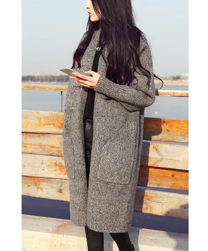 C87811A 2015 fashion new arrival lapels oversized maxi ladies wool long winter coats