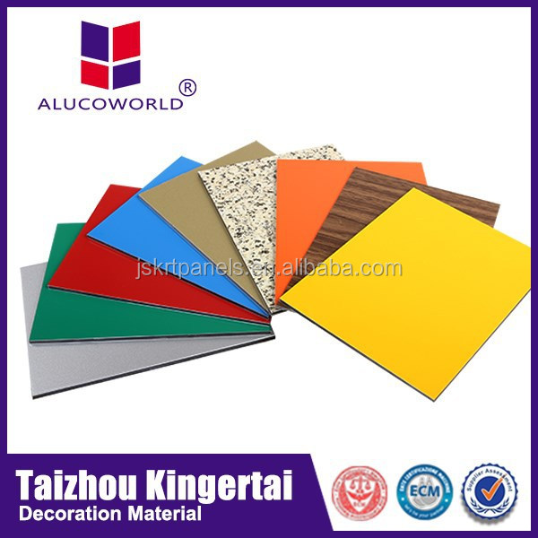 Alucoworld Offering Quality Plastic Aluminum Composite Panel composite materials for decorative wall panel
