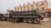 3 axles 12 wheels 60 tons tipper truck trailer dump trailers for tractors