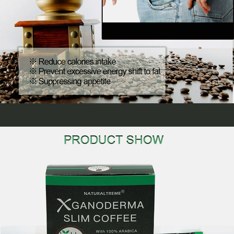 Free Shipping Green Tea Extract Ganoderma Slimming Coffee for sale