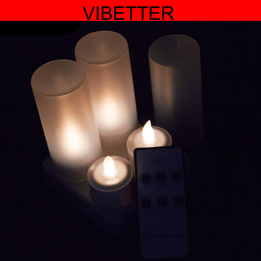 Rechargeable LED Tea Light Tealights Candles warm white with Remote Control Holder Charger