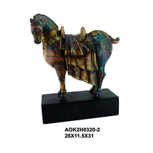 Carved resin standing horse design custom oem resin animal statue