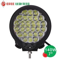 Round 7 inch led driving light, Jeep 4x4 140w 7 inch led driving light