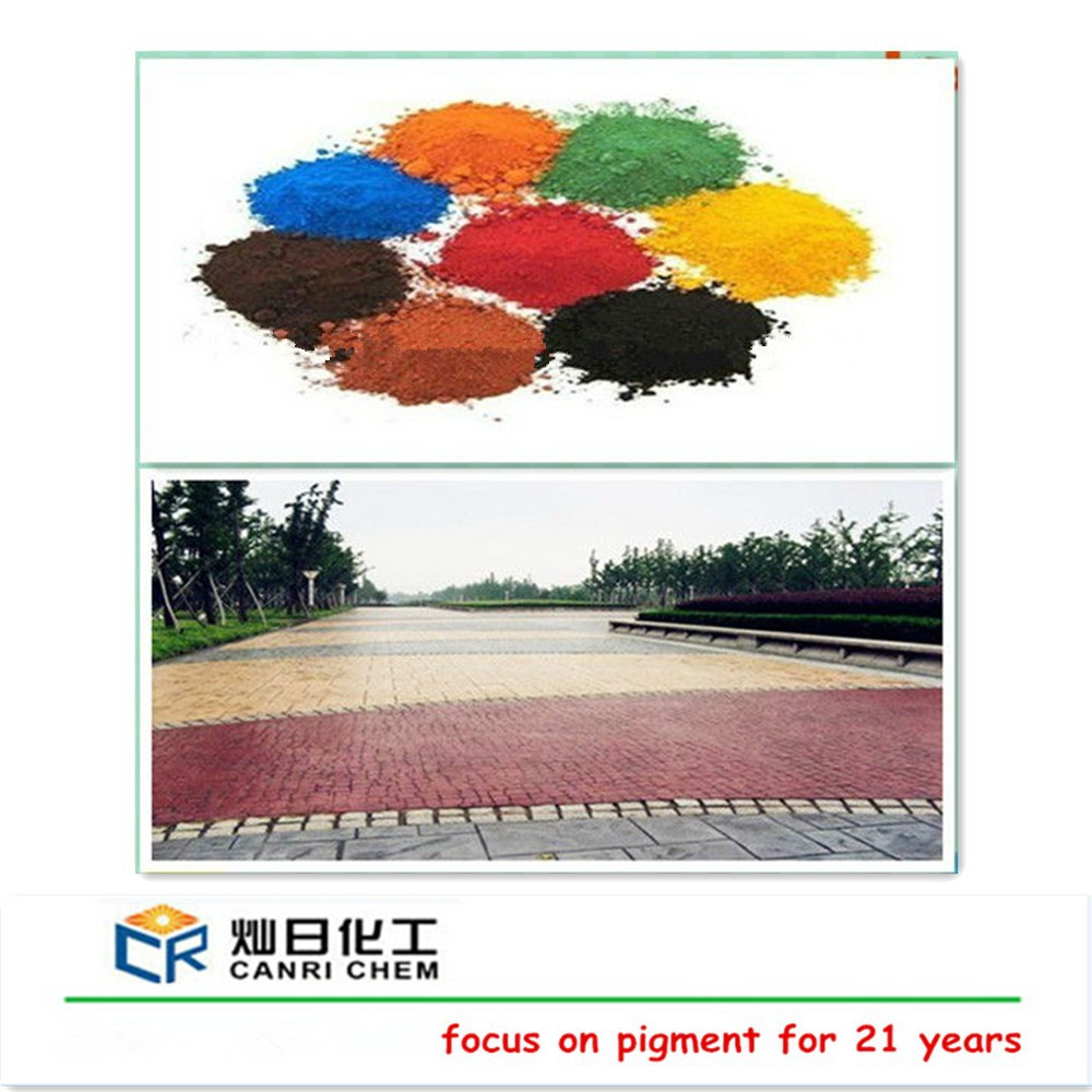synthetic iron oxide red with good dispersibility for coloured mortars