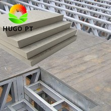 Loft Floor Stairs Material Calcium Silicate Cement Board For Steel Frame Construction Building