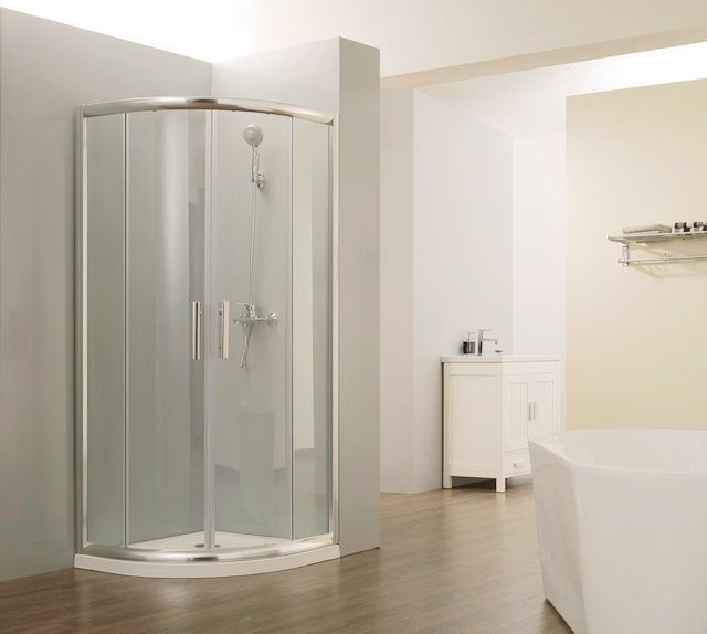 HEF High Quality CE Certified Alum Frame Arc Shower Screen