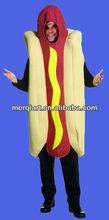 Funny party Adult Unisex Hot Dog Costume