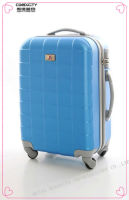 3-Piece 4 Wheels Strong and durable aluminum hard luggage Blue