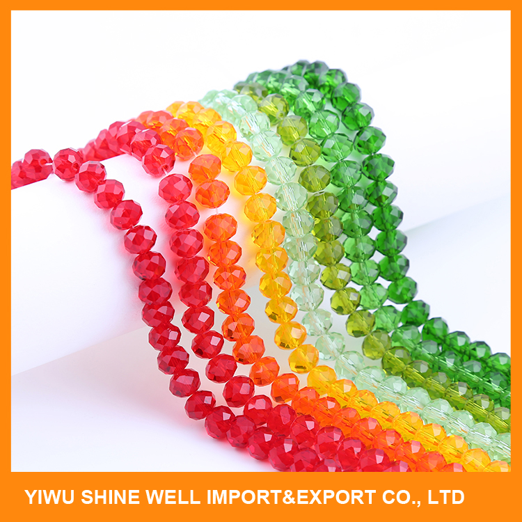 Wholesale factory 2mm-10mm roundel crystal glass beads