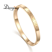Custom Name Copper 6mm Bangle Bracelet Personalized Initial Engraved Name Bracelet & Bangle Men's jewelry For Lovers