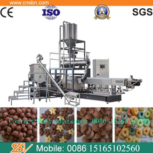 automatic Automatic Choco Cereal Oats Grain Corn Rice Flake Flaking Mill Extruder Machine