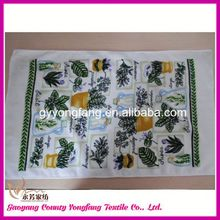 clearance tea towel, korea microfiber towel colorful package edge, grid green tea towel