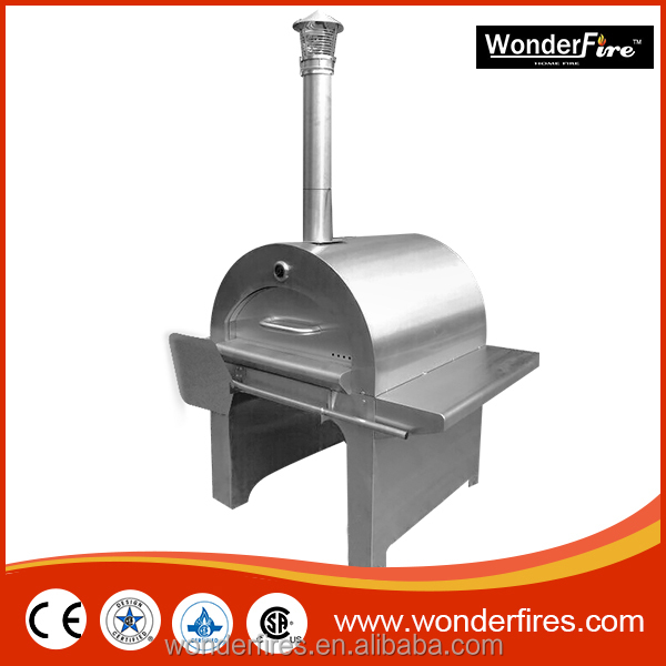 Wood Fired Stainless Steel Pizza Oven-Wood Fired Oven & Cart - Freestanding