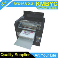 CE/SGS approved direct to clothes / fabric / garment A3 digital flatbed t-shirt printer for sales