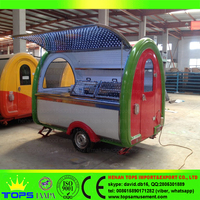 Tricycle Food Hot Dog Hamburger Truck Mobile Trailer Carts