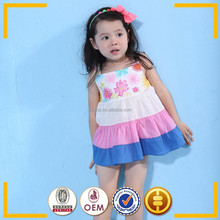 White cotton colorful Straps Summer dress design patterns kids
