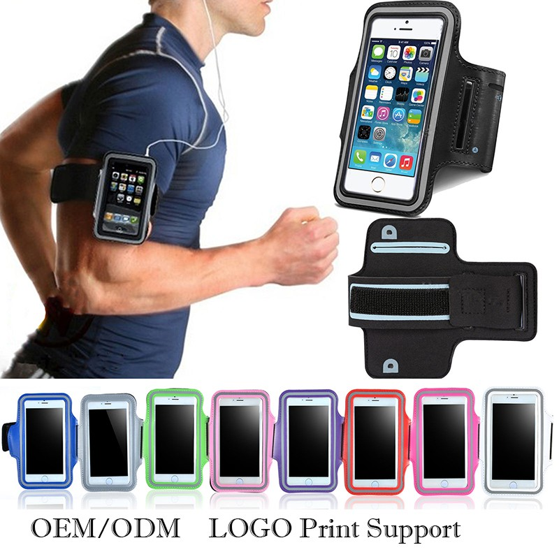 Support OEM for Sport Armband Mobile Phone Case with Earphone Holder Pay Express Payment for Free Sample