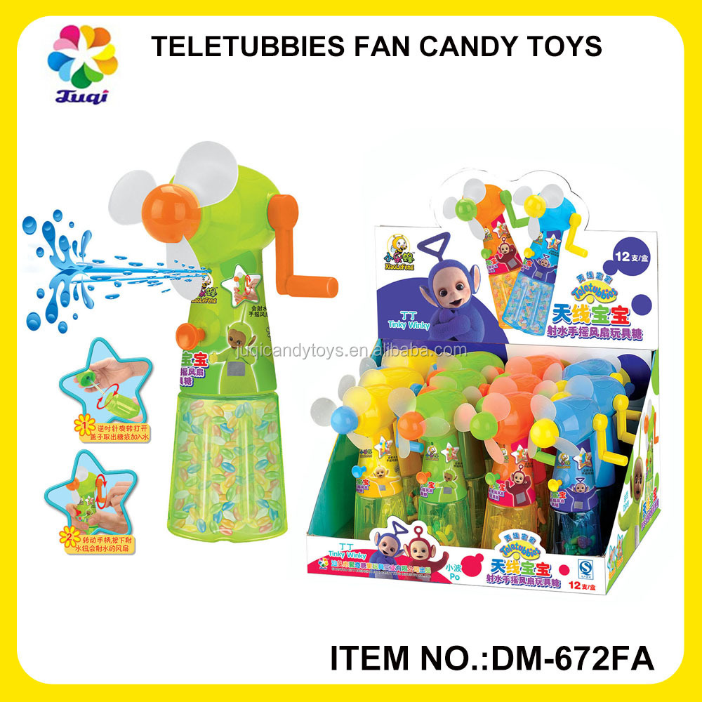 China shantou suppliers wholesale cute hand fan candy filled toys