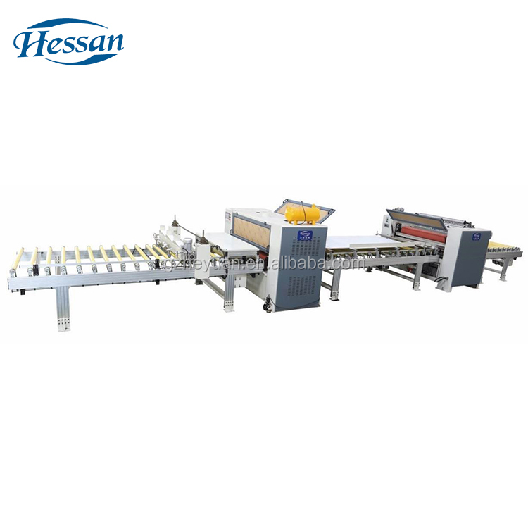 High quality panel semi automatic woodworking high gloss lamination machine