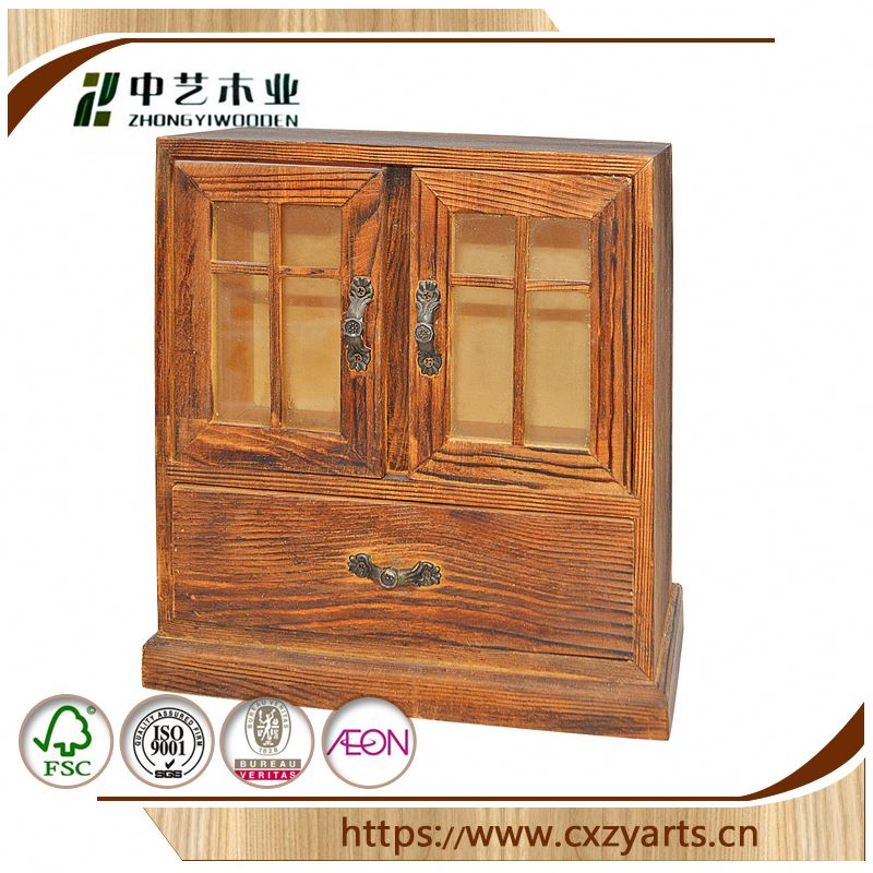 HOT SALE Decorative Accept OEM rustic hinging unfinished wooden packing box wooden box