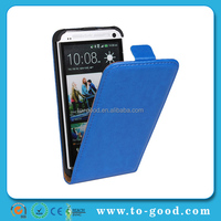 Wood Line PU Leather Mobile Phone Case For HTC ONE M7 (Blue)