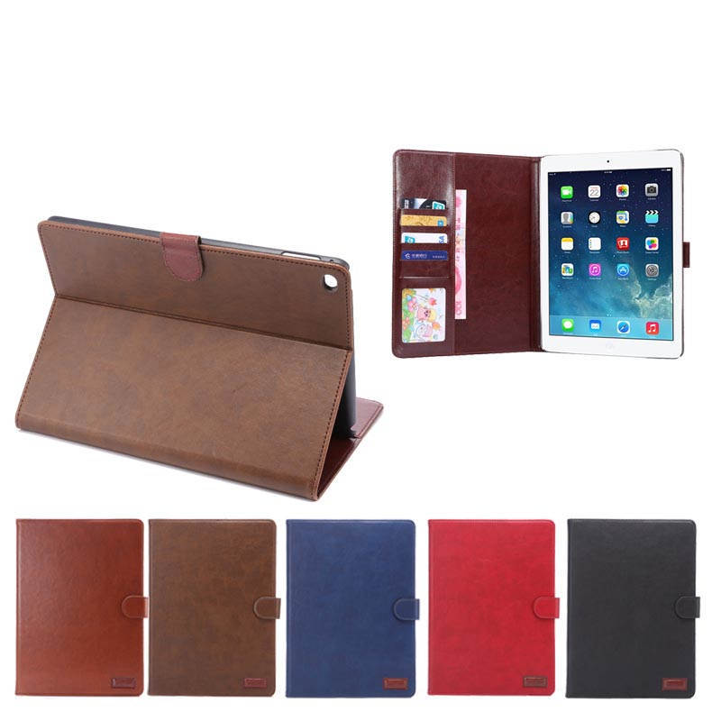 Luxury Crazy horse design leather cover case for apple ipad air 2