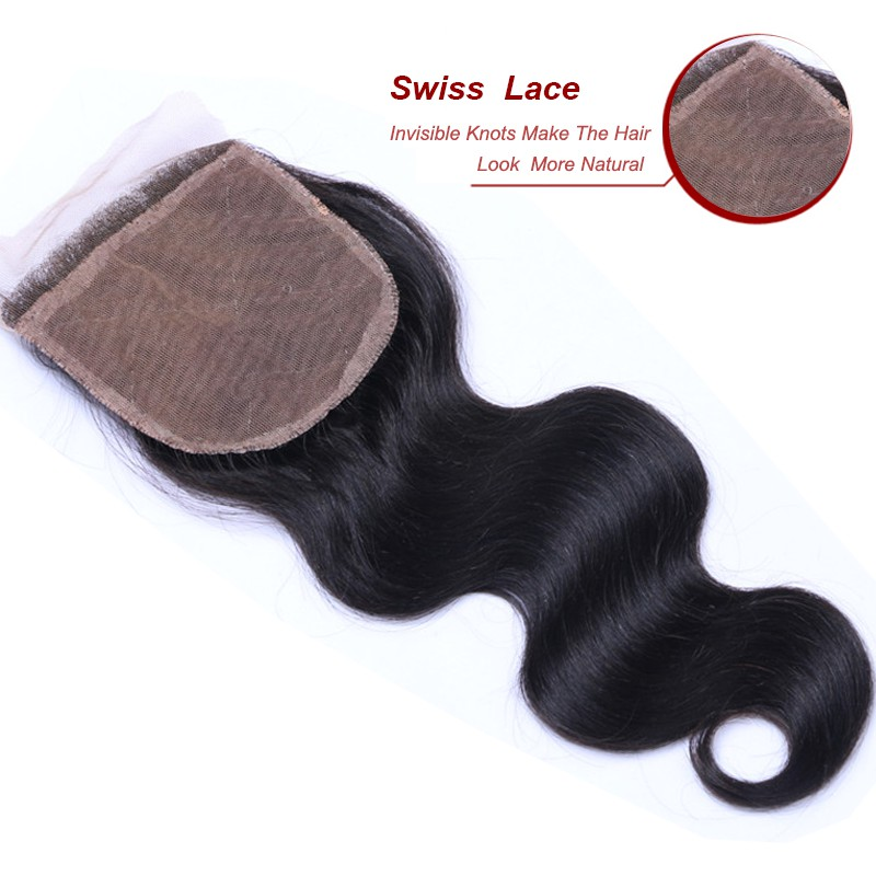 "China aliexpress Hot Sale Cheap High Quality Peruvian hair Body Wave Virgin human Hair Silk base closure 4""*4"" in 8A"