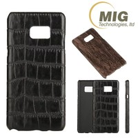 hard pc leather snakeskin pattern phone case for samsung galaxy note 7 wood grain mobile phone cover