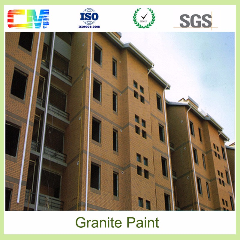 Exterior rough texture paint granite stone special effect spray paint for exterior building