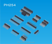 UL male gender 2.54mm pitch 6 pin dual row pin header