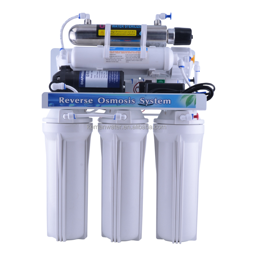 6 stage home water purifier filter water by RO <strong>system</strong> with pressure tank