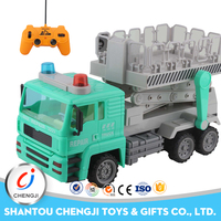 2017 new product plastic green children off road toy large scale rc truck for sale
