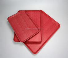 Non-slip Stackable Cheap Plastic Fast Food Serving Trays
